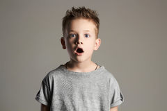Funny kid.surprised little boy. Royalty Free Stock Photography