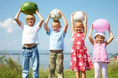 Funny kids Royalty Free Stock Images