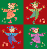 Funny kids. Colour illustration of funny kids Stock Images