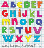 Funny kids alphabet Stock Image