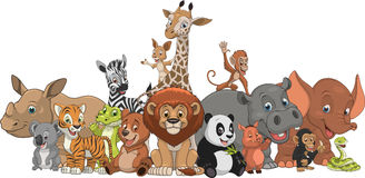 Funny kids animals Royalty Free Stock Photo