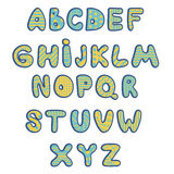 Funny kids colorful alphabet. Vector Royalty Free Stock Images