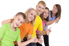 Funny Kids On White Royalty Free Stock Photo