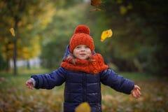 Autumn kids Stock Photos