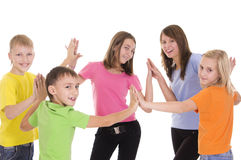funny kids on white Royalty Free Stock Images