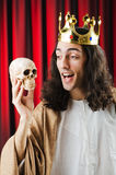Funny king against  curtain Stock Photo