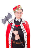 Funny king with axe Royalty Free Stock Photography