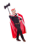 Funny king with axe Royalty Free Stock Photos