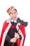 Funny king with axe Royalty Free Stock Photo