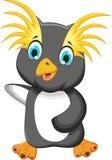 Funny king penguin cartoon Royalty Free Stock Photography