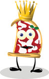 Funny king Pizza Stock Photo