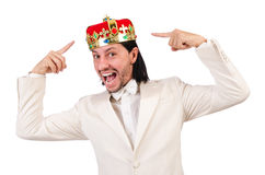 Funny king Stock Photo