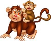 Funny kingkong cartoon posing with smile Royalty Free Stock Photos