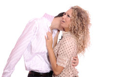 Funny kiss Royalty Free Stock Photo
