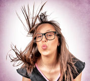 Funny kiss Royalty Free Stock Photography
