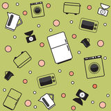 Funny kitchen pattern Royalty Free Stock Photography