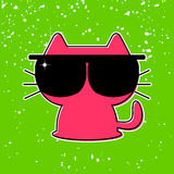 Funny kitten in sunglasses Royalty Free Stock Image