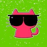 Funny kitten in sunglasses. Cute funny kitten in sunglasses royalty free illustration