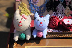 Funny kitty soft toys Royalty Free Stock Images