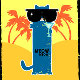 Funny kitty in sunglasses Royalty Free Stock Photography