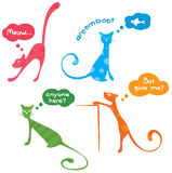 Funny kittys. Vector illustration - color funny cats stock illustration