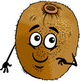 Funny kiwi fruit cartoon illustration Stock Image