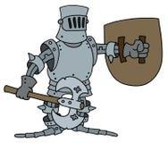 Funny knight Stock Photo