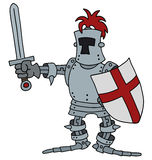 Funny knight Royalty Free Stock Photo