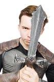 Funny knight isolated Stock Photos