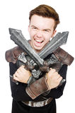 Funny knight isolated Royalty Free Stock Images