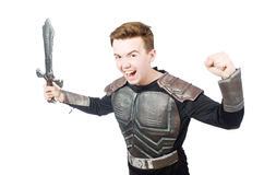 Funny knight isolated Stock Image