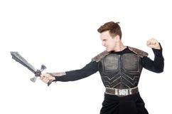 Funny knight isolated Royalty Free Stock Photo