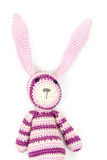 Funny Knitted Rabbit Toy With Ears Up Royalty Free Stock Photography