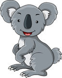 Funny koala cartoon Stock Image