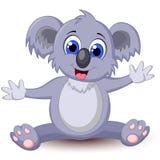 Funny koala cartoon royalty free illustration