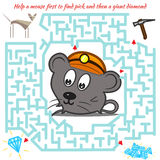 Funny labyrinth game for children Royalty Free Stock Photography