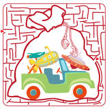 Funny labyrinth. Illustration of Education Maze Stock Images