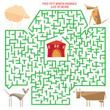 Funny labyrinth. Rebus Royalty Free Stock Photo