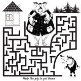 Funny labyrinth. Vector Rebus Royalty Free Stock Image