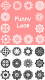 Funny lace silhouette Stock Photo