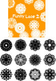 Funny lace silhouette Stock Photos
