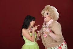Funny Ladies Gossiping Stock Photo