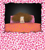 Funny Lady With Insomnia Stock Images