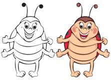 Funny ladybug Royalty Free Stock Photo