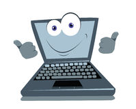 Funny Laptop Thumbs up Stock Image