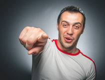 Funny laugh man Stock Images