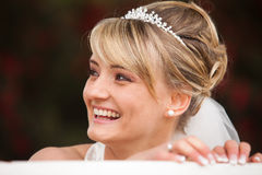 Funny laughing bride portrait Stock Photography