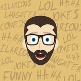 Funny laughing guy Stock Photos