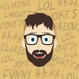 Funny laughing guy Stock Photo