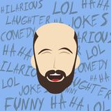 Funny laughing guy Royalty Free Stock Image
